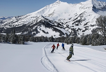 2,700 vertical feet and over 60 runs make up the ski terrain.
