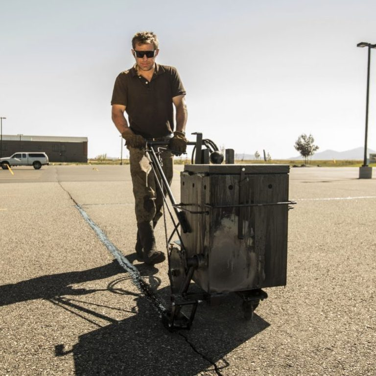 Sealcoating is vital to maintain your asphalt parking lot. At Yellowstone Pavement Solutions we specialize in all things asphalt maintenance. This includes crack repair, sealcoating, line striping and pot hole repair. We operate throughout Montana including; Bozeman, Belgrade, Billings, Three Forks, Ennis, Helena, Butte and Missoula.