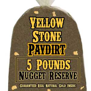 5 Pounds of NUGGET RESERVE (Nuggets!) Gold-Rich Unsearched Paydirt Concentrate from YELLOWSTONE PAYDIRT