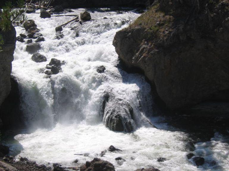 Firehole Falls Yellowstone