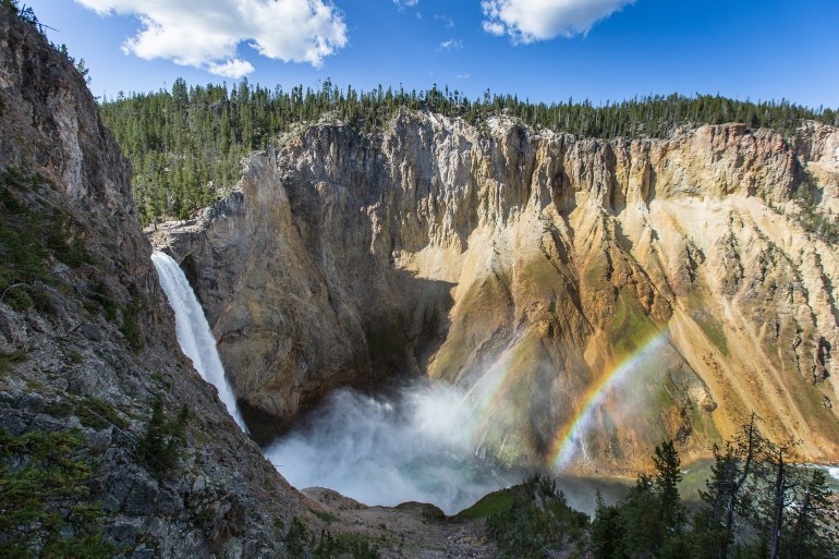Canyons in Yellowstone National Park