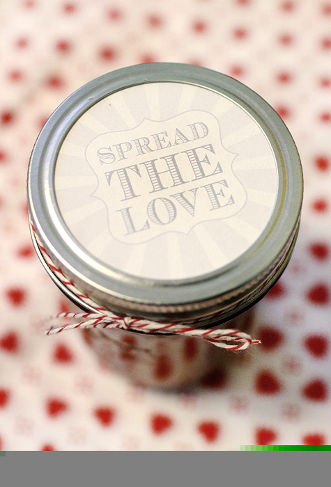 Freebie Printable Spread the Love Canning Labels  Yellow