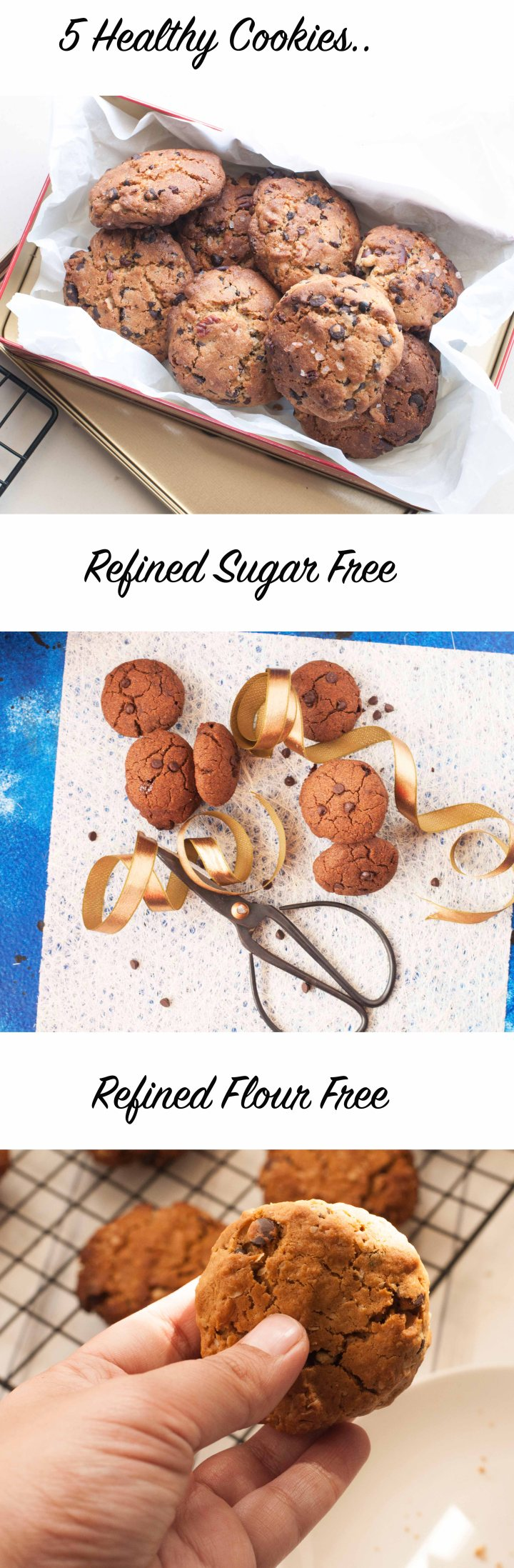 5 Healthy Cookies without refined flour and refined sugar