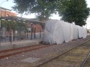 Disused, but relatively new, railway line put under wraps