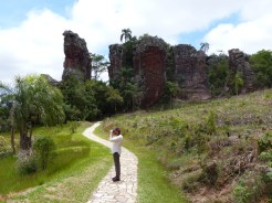 A stop on route to see the sandstone formations at Vila Velha, near Curitiba
