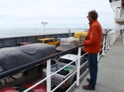 On the ferry across the Straits of Megallen to Tierra del Fuego