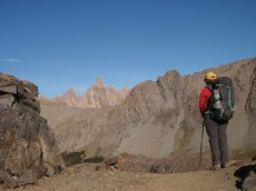 Looking across the the cathedral like rock peaks of summit of Co. Catedral
