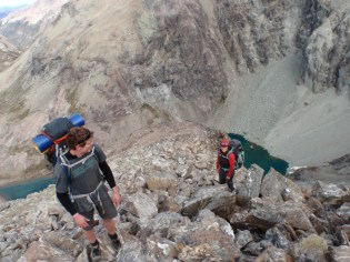 Day 2 started with a steep , scrambling ascent