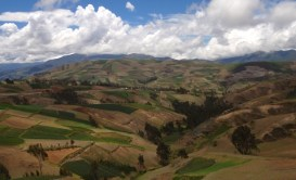 With lush farmland in the valleys below