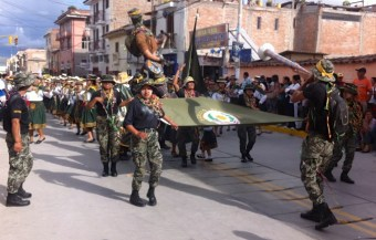 The Army's parade coming down the street