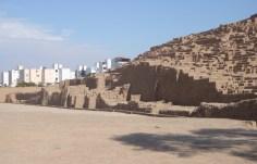 The adobe pyramid of Huaca Pucllana in Lima