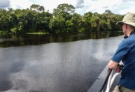 Watching out for our first sighting of river dolphins