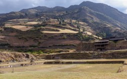 Over the mountains in the next valley are the ruins of the city of Chavin
