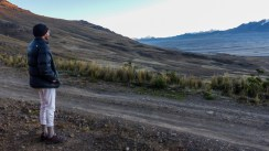 Up at dawn (briefly - it was very cold!), to watch the sunrise over the mountains