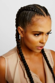 cornrows with added hair 1-2 braids