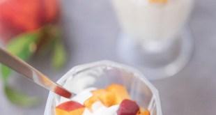 Şeftalili Donmuş Yoğurt