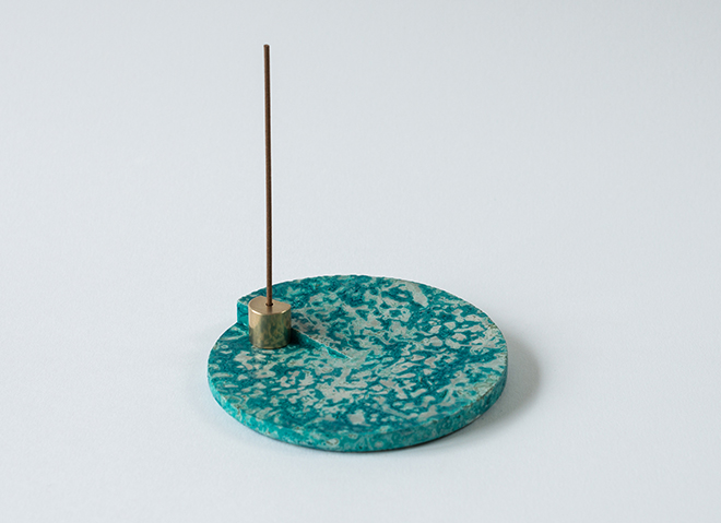 copper patina incense small