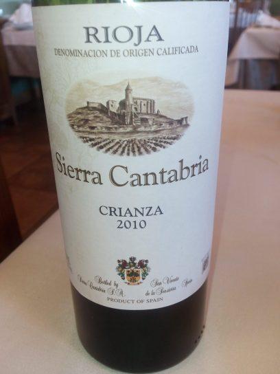 Vino tinto Sierra Cantabria