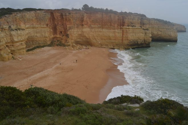 Vista aérea de Praia de Benagil