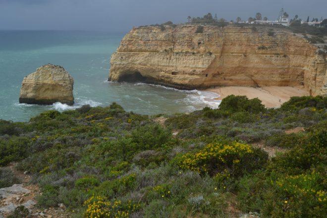 Vista aérea de Praia do Carvalho