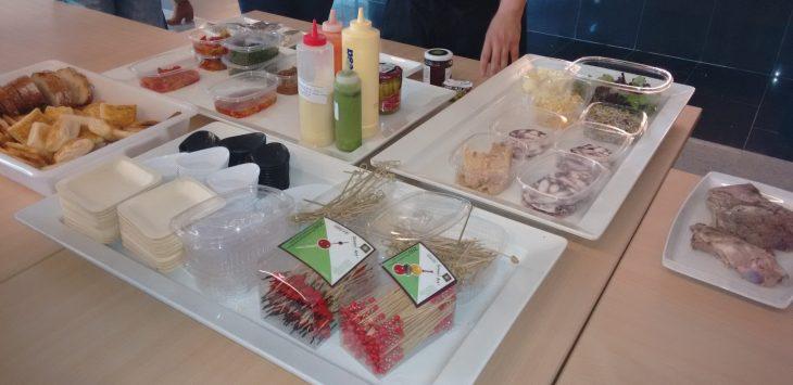 Ingredientes para elaborar los pinchos