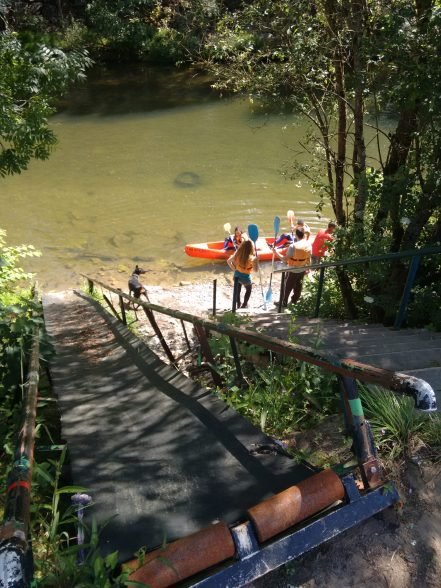 Inicio del Descenso del Sella en canoa
