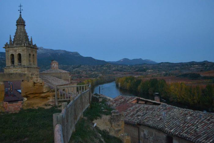 Vista de Briñas y del río Ebro