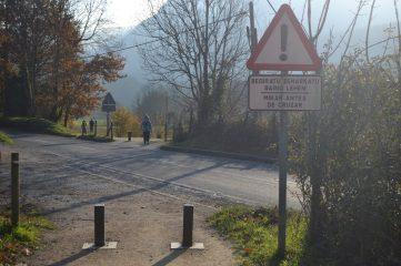 Cruce por la carretera