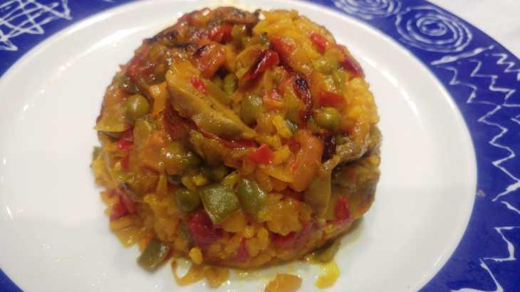 Paella con alioli