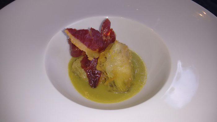 Alcachofas en tempura