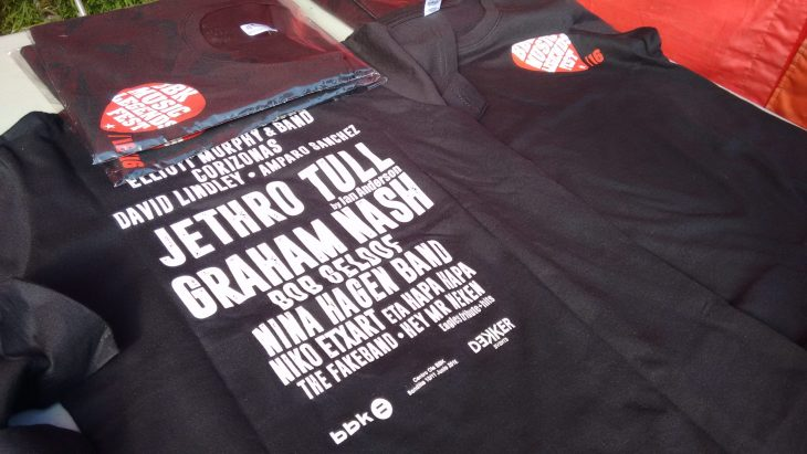 Camiseta del BBK Music Legends Fest 2016