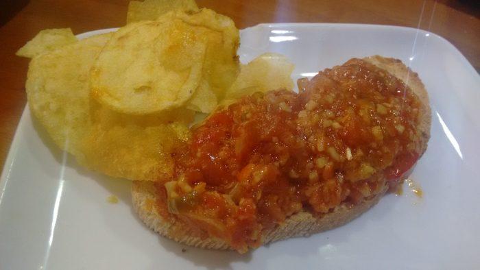 Tapa de Tosta de tomate