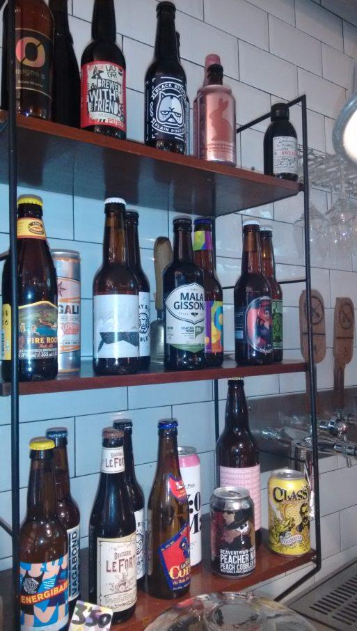 Cervezas artesanas en el Bihotz Café
