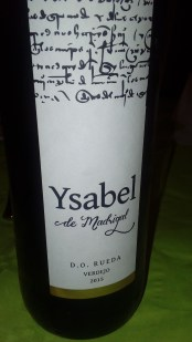 Vino blanco Isabel de Madrigal 2015