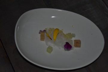Algodón de foie y manzana