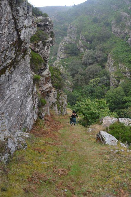 Descendiendo hacia el río Esva