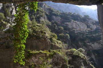 Ventana natural en el túnel