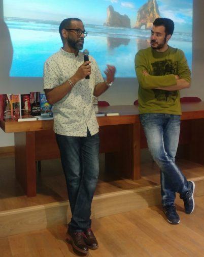 Tony Romero y Pablo Garcinuño durante el debate