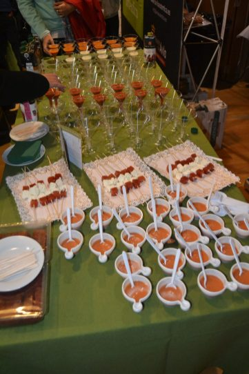 Gazpacho, salmorejo y membrillo de Santa Tertesa