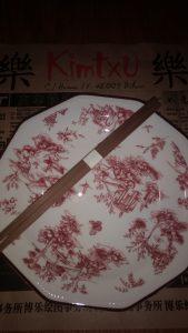 Plato y palillos del Kimtxu