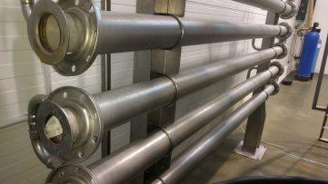 Tubos transportadores de la pasta de aceitunas