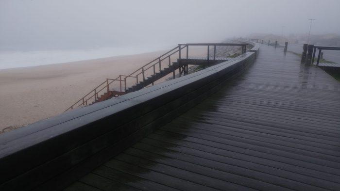 Pasarelas junto a la playa