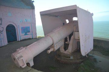 Cañón del bunker de Gorliz
