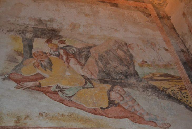 Fresco conservado en las paredes