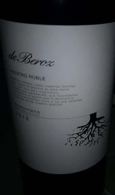 Vino tinto De Beroz