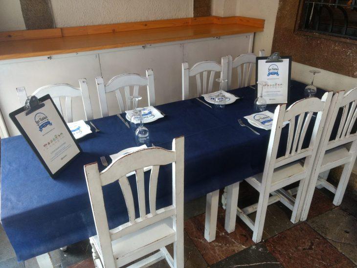 Terraza del Restaurante Las Tablas del Campillín de Oviedo