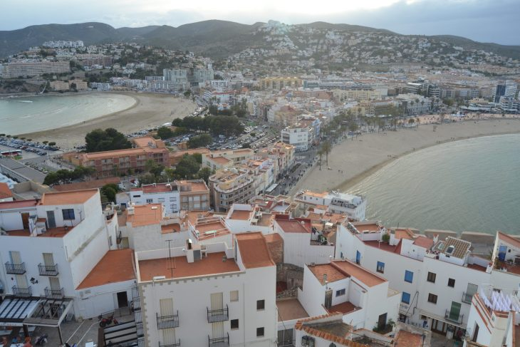 Playa Norte y Playa Sur desde el Castillo de Peñiscola