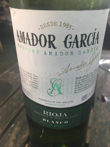 Vino blanco Amador García