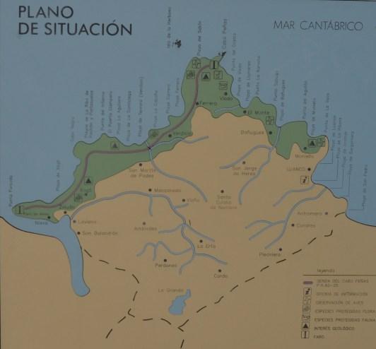 Plano del Cabo de Peñas