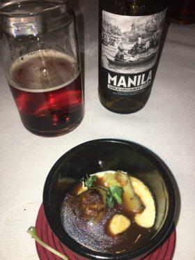 Plato de alcachofa y Cocktail Alma de vagabundo